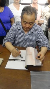 One of the farmers who was digging the well when the discovered the warriors. He signed our books