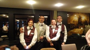 Our crew Roxanne our Wine guy Vanos, Dom and Vanos