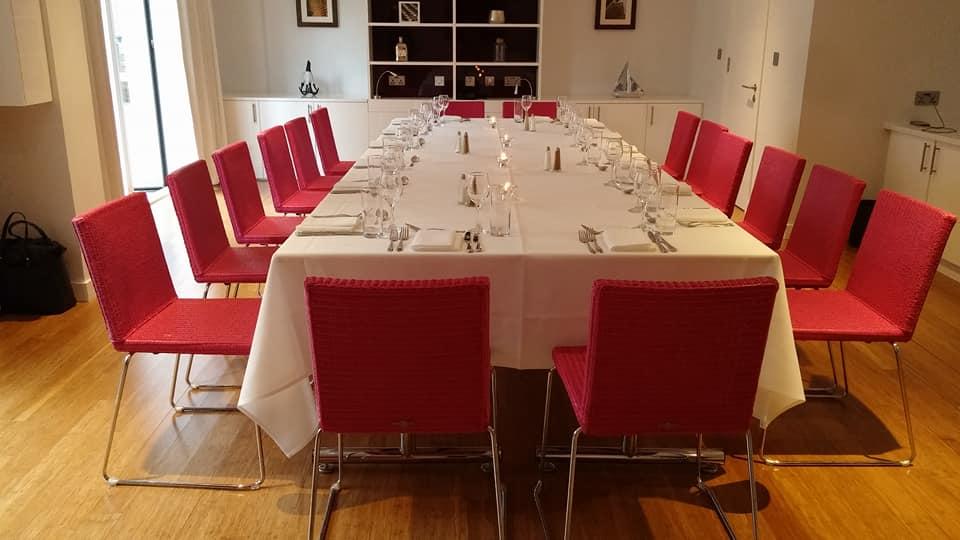 London day 1 dinner room